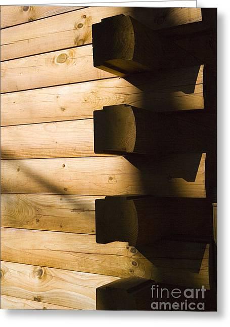 Log Houses Greeting Cards - Log House Greeting Card by Juan  Silva