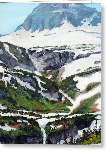 Oversize Greeting Cards - Logan Pass Greeting Card by Mary Giacomini