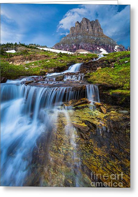 Flowing Greeting Cards - Logan Pass Stormclouds Greeting Card by Inge Johnsson