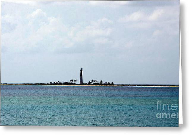 Overcast Day Greeting Cards - Loggerhead Key Lighthouse Greeting Card by Jason O Watson