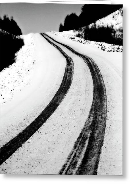 Winter Digital Photo Scene Greeting Cards - Logging Road In Winter Greeting Card by Mark Duffy