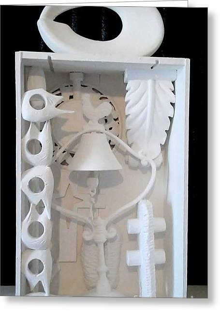 Diamond Sculptures Greeting Cards - Loiuse Nevelson Homage Greeting Card by Martha Hoffer
