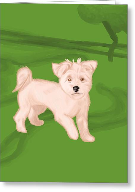 Puppies Digital Greeting Cards - Lola Greeting Card by Amy Andujar
