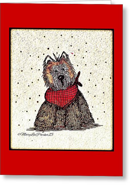Lola The Dog Greeting Card by MaryLee Parker