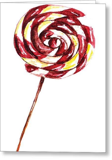 Nice Teeth Greeting Cards - Lollipop Greeting Card by Alexandra-Emily Kokova