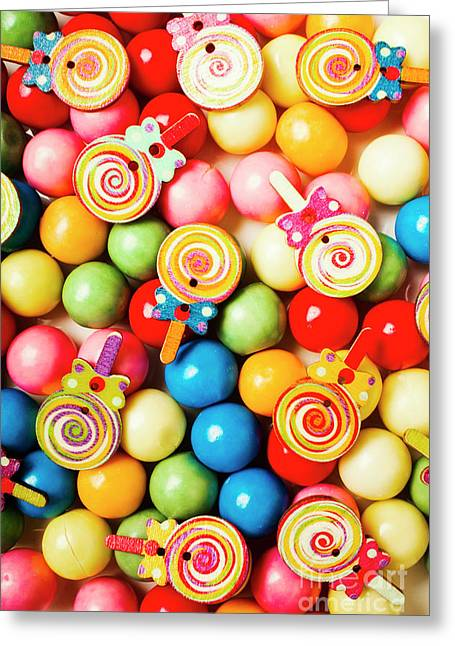 Lolly Shop Pops Greeting Card by Jorgo Photography - Wall Art Gallery