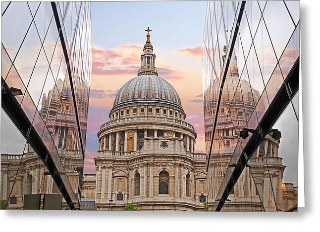 Old Home Place Greeting Cards - London Awakes - St. Pauls Cathedral Greeting Card by Gill Billington