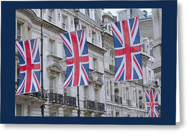 Greeting Cards - London Celebration Greeting Card by Ann Horn