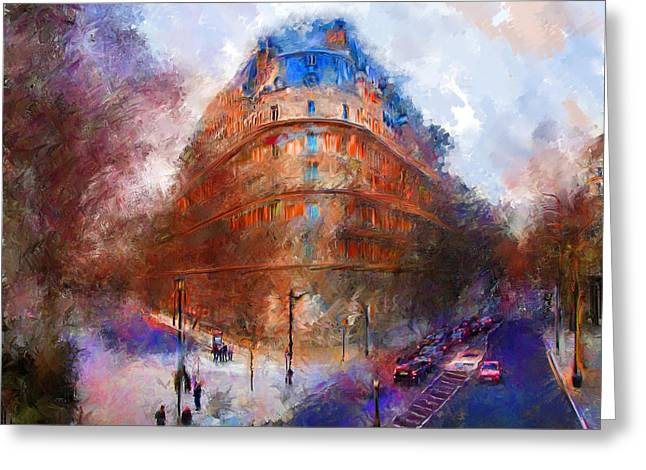London Central Greeting Card by Marilyn Sholin