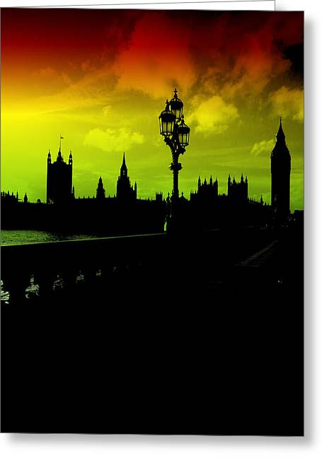 Sherlock Holmes House Greeting Cards - London Greeting Card by Christie Goodwin