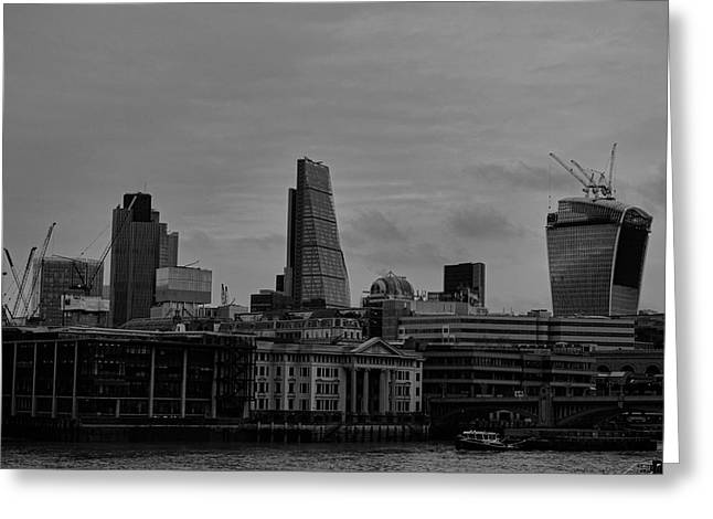 Low Light Greeting Cards - London City Greeting Card by Martin Newman