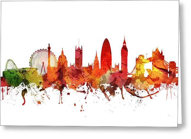 Big Drawings Greeting Cards - London Cityscape 04 Greeting Card by Aged Pixel