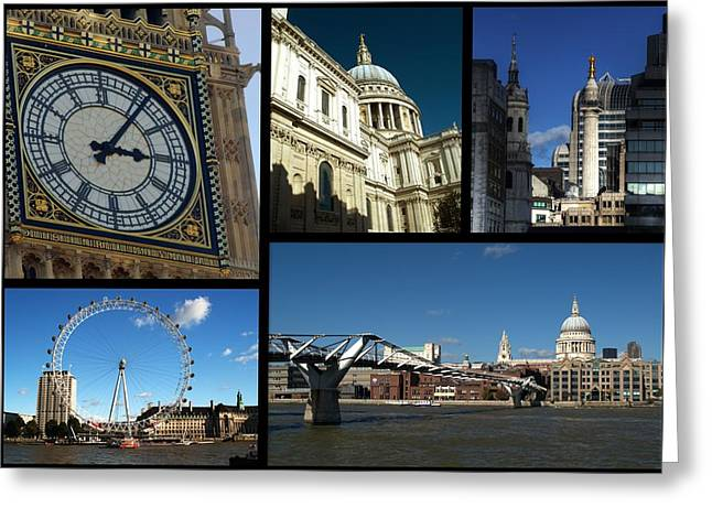 D5000 Greeting Cards - London Collage Greeting Card by Chris Day
