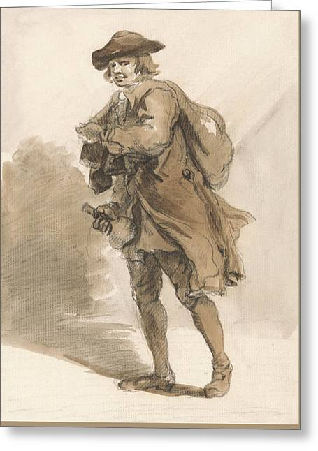 London Cries - A Man With A Bottle Greeting Card by Paul Sandby