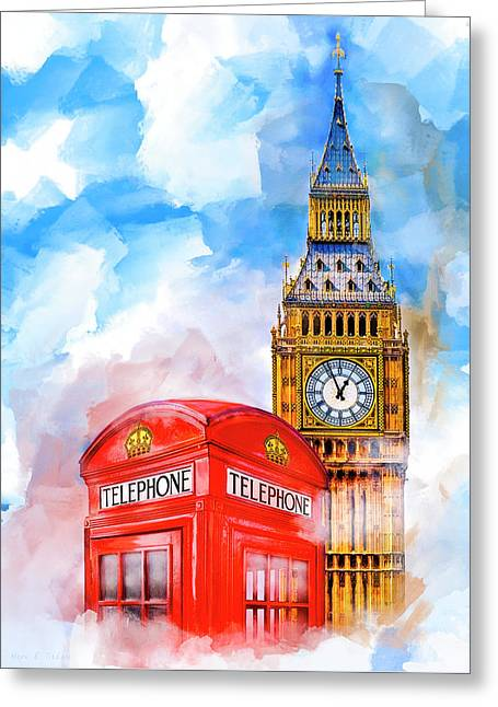 Architectural Design Greeting Cards - London Dreaming Greeting Card by Mark E Tisdale