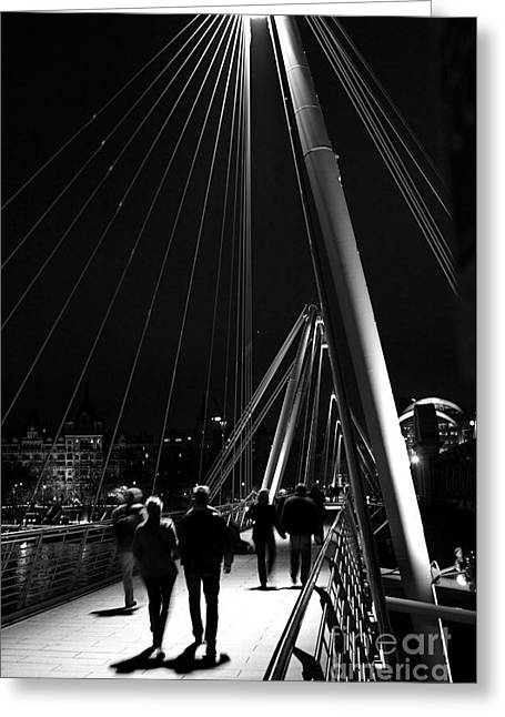 Charing Cross Bridge Greeting Cards - London England Golden Jubilee Bridges Greeting Card by ELITE IMAGE photography By Chad McDermott