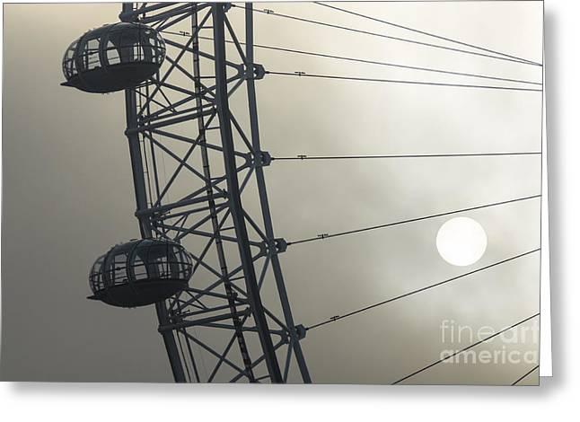 Capsule Greeting Cards - London Eye 3 Greeting Card by Marcin Rogozinski