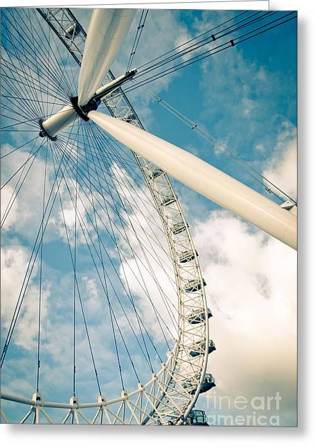 England Photographs Greeting Cards - London Eye Ferris Wheel Greeting Card by Andy Smy