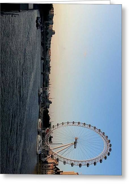 Londoneye Greeting Cards - London Eye Greeting Card by Namaya Navaratnarajah