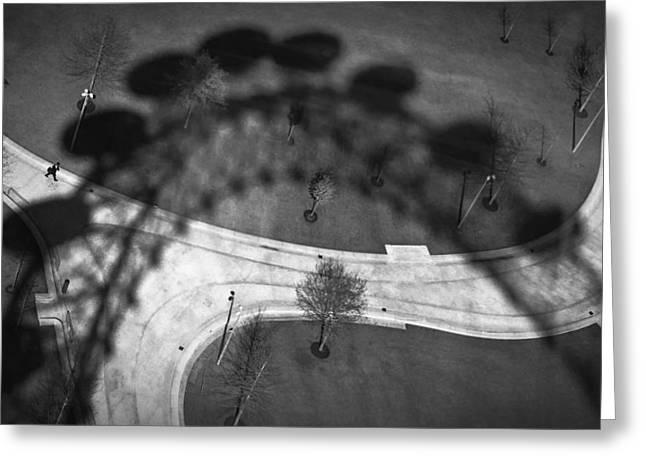 Black Greeting Cards - London Eye Greeting Card by Pessoa N Beat