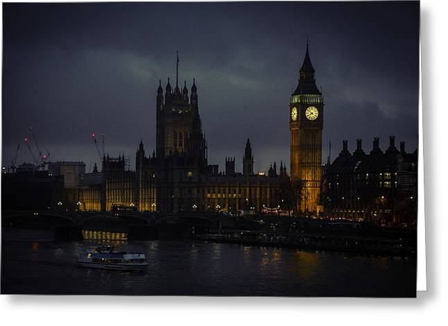 London Eye River Cruise Greeting Cards - London Eye River Cruise Greeting Card by Steve LLamb