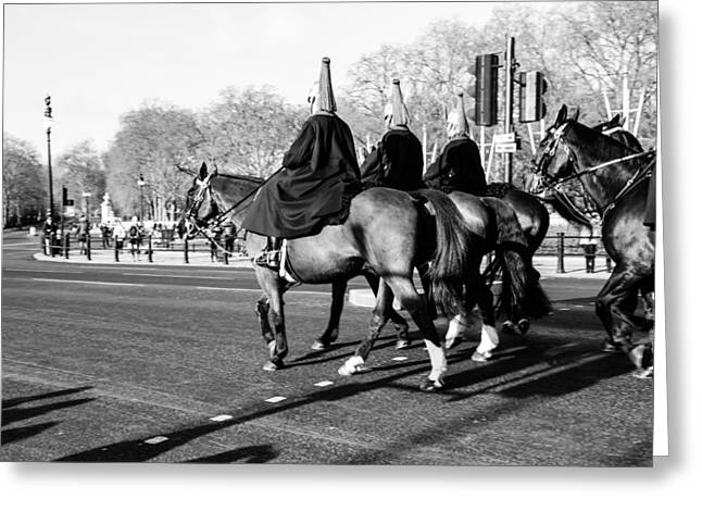 London Guards On Horses Greeting Card by Pati Photography