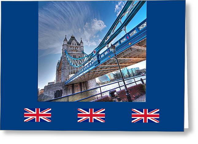 Old Home Place Greeting Cards - London Landmark - Tower Bridge Greeting Card by Gill Billington