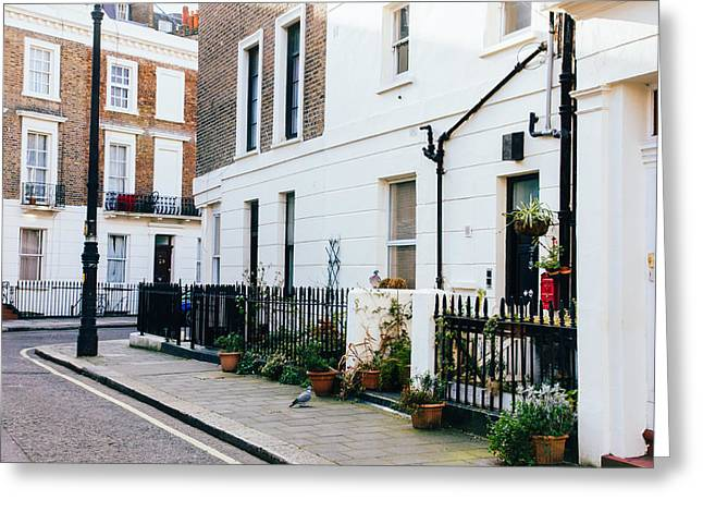 London Residential Street Greeting Card by Pati Photography