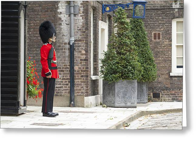 London Royal Guard Greeting Card by Travis Rogers