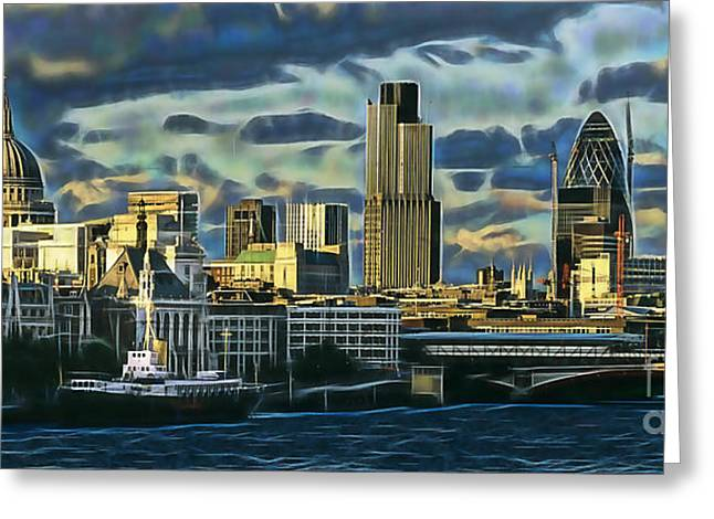 London Skyline Collection Greeting Card by Marvin Blaine