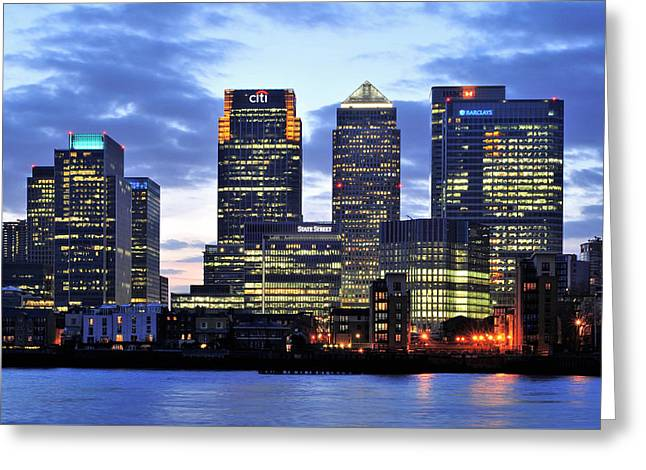 Illuminate Greeting Cards - London Skyline Greeting Card by Marek Stepan