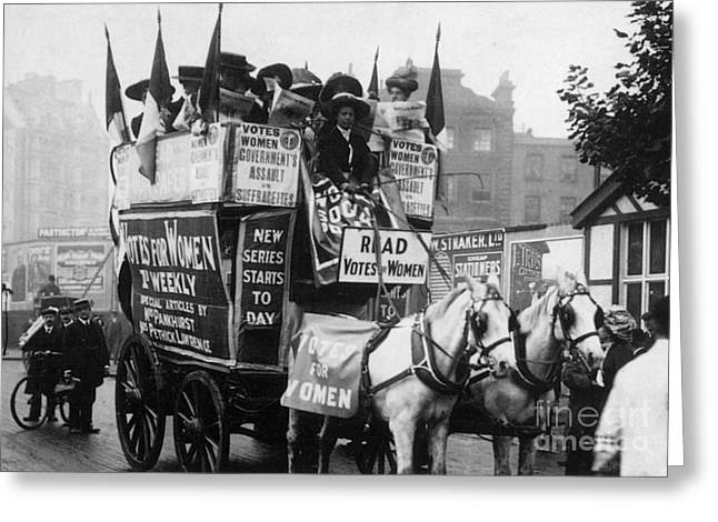 Protesters Greeting Cards - London: Suffragettes, 1909 Greeting Card by Granger