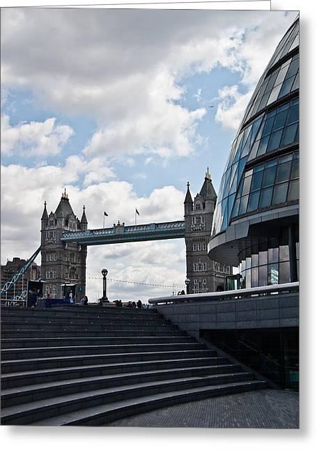 City Hall Greeting Cards - London Tower Bridge Greeting Card by Dawn OConnor