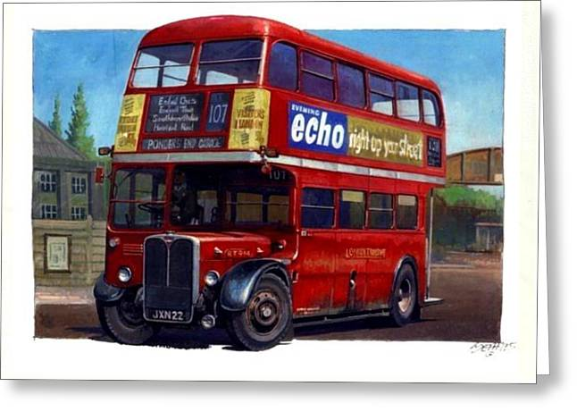 London Transport Rt Greeting Card by Mike  Jeffries