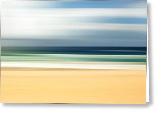 Lone Beach Greeting Card by Az Jackson