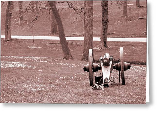 Pea Ridge Greeting Cards - Lone Canon Greeting Card by Jame Hayes