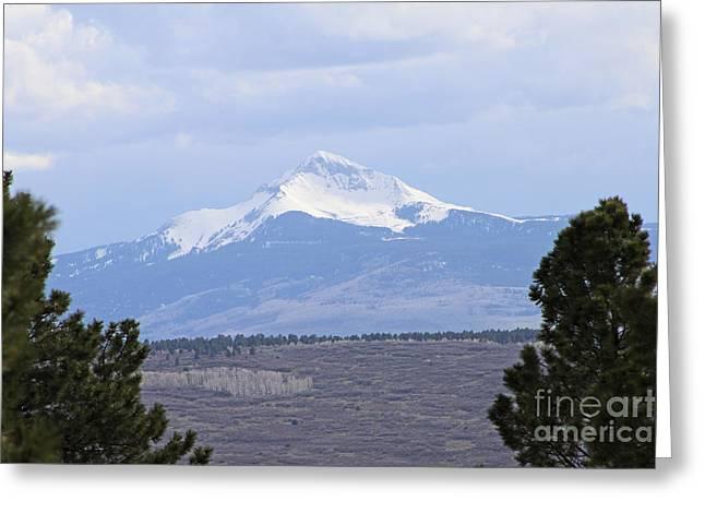 Lone Cone The Solitary Landmark Southwestern Colorado Greeting Card by Dale Jackson