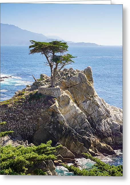 Lone Greeting Cards - Lone Cypress Pebble Beach Greeting Card by Lutz Baar