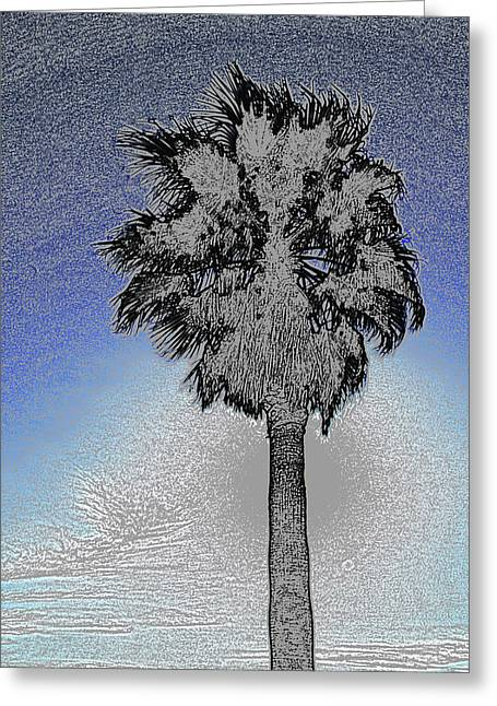 Colored Pencil Abstract Greeting Cards - lone Palm 2 Greeting Card by Gary Brandes