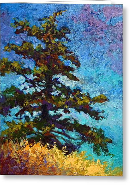 Fall Trees Greeting Cards - Lone Pine II Greeting Card by Marion Rose