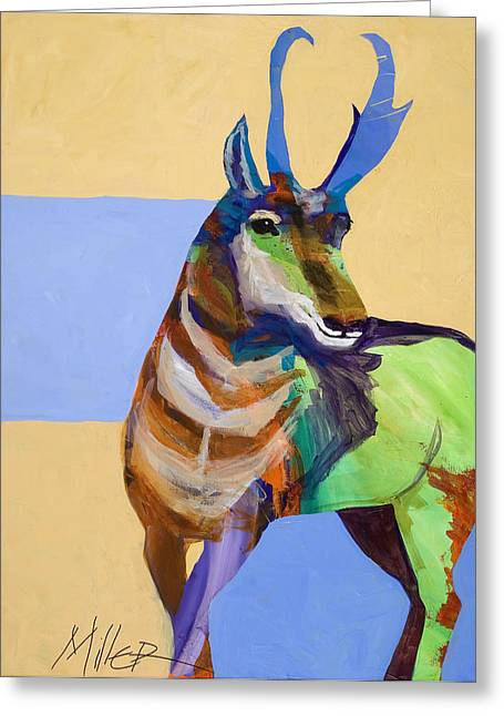 Tracy Miller Greeting Cards - Lone Pronghorn Greeting Card by Tracy Miller