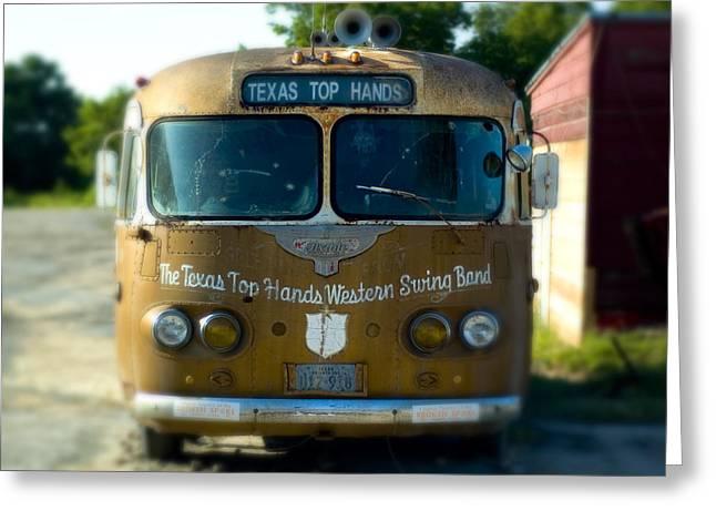Lone Star Bus 4 Greeting Card by John Gusky