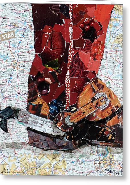 Lone Star Spur Greeting Card by Suzy Pal Powell