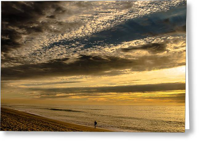 """storm Prints"" Greeting Cards - Lone Surfer McGrath State Beach Greeting Card by Danny Goen"