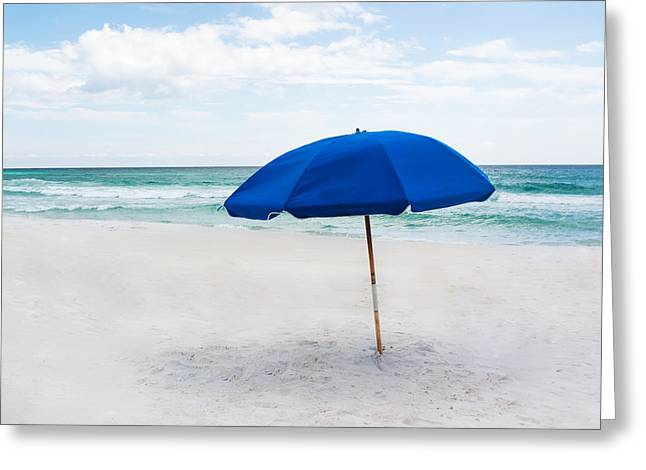Splashy Greeting Cards - Lone Umbrella Greeting Card by Shelby  Young