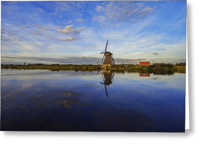 Holland Greeting Cards - Lone Windmill Greeting Card by Chad Dutson