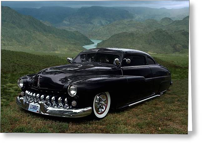 Teemack Greeting Cards - Lone Wolf 1949 Mercury Low Rider Greeting Card by Tim McCullough