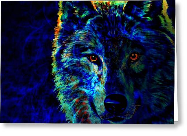 Lone Wolf Greeting Card by WBK