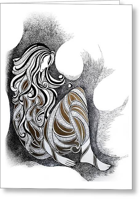 Empowerment Greeting Cards - Loneliness Greeting Card by Alpana Lele