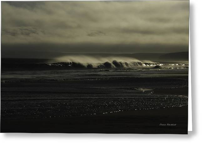 Dark Skies Greeting Cards - Loneliness Greeting Card by Donna Blackhall